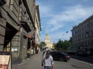 38) verso la cattedrale e la fortezza di s. Petro e Paolo